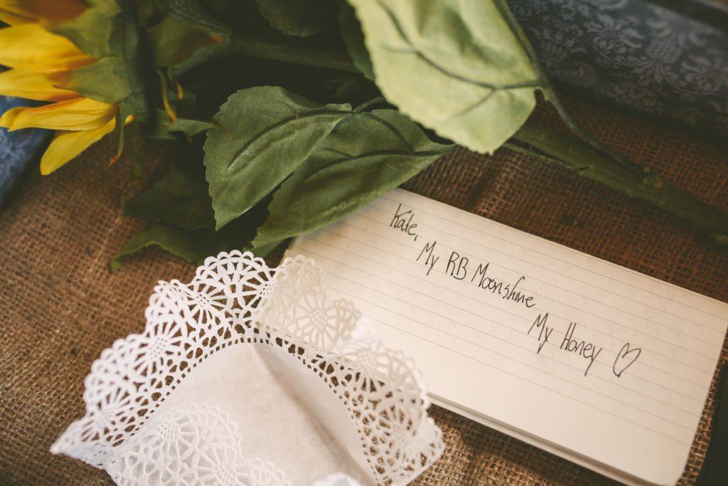 Love letter from the groom