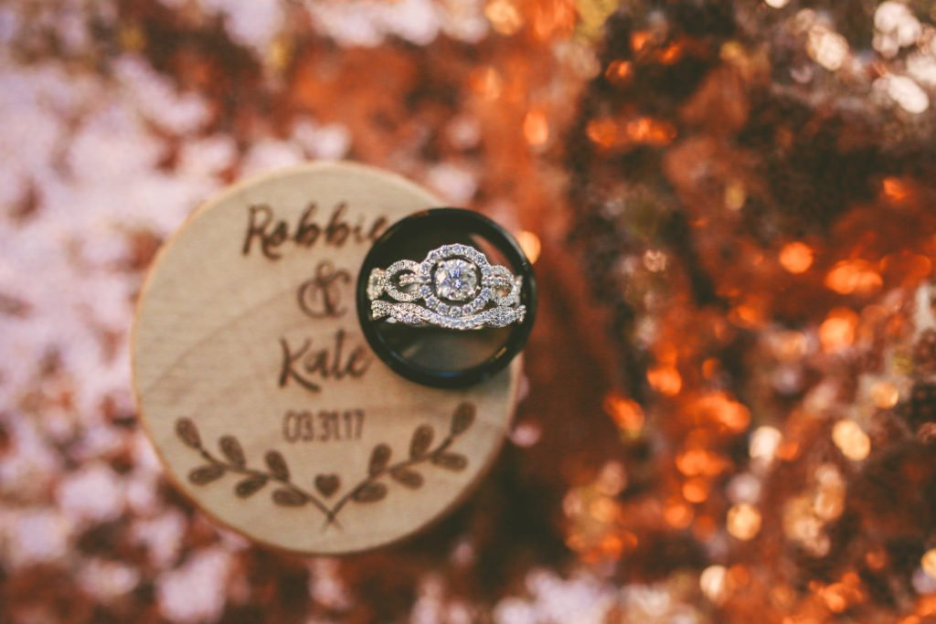 wedding ring with custom box