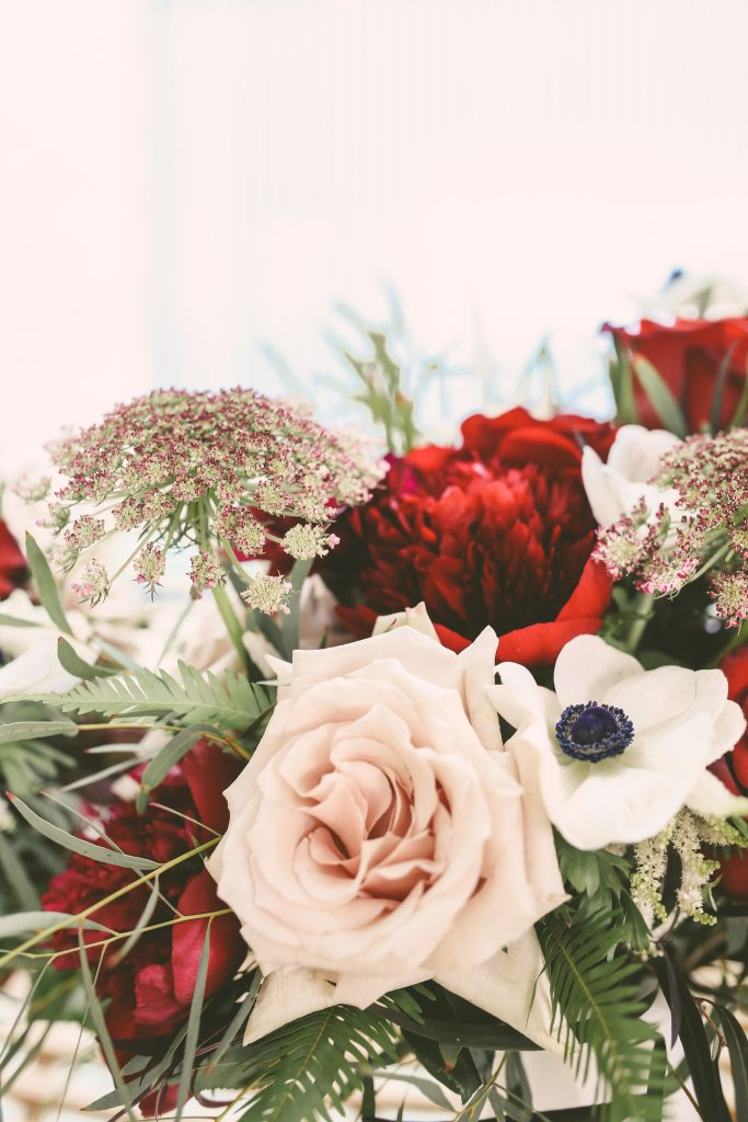 San Diego Same Sex Elopement: Burgundy and Blush Bouquets from Street Blooms