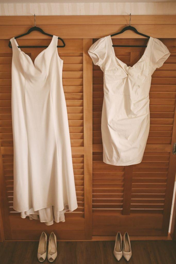 San Diego Same Sex Elopement: Wedding gowns