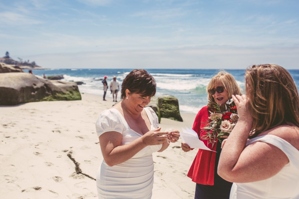 San Diego Same Sex Elopement: Windansea beach ceremony