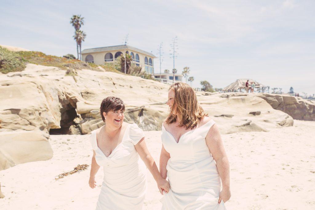 San Diego Same Sex Elopement: Windansea beach ceremony