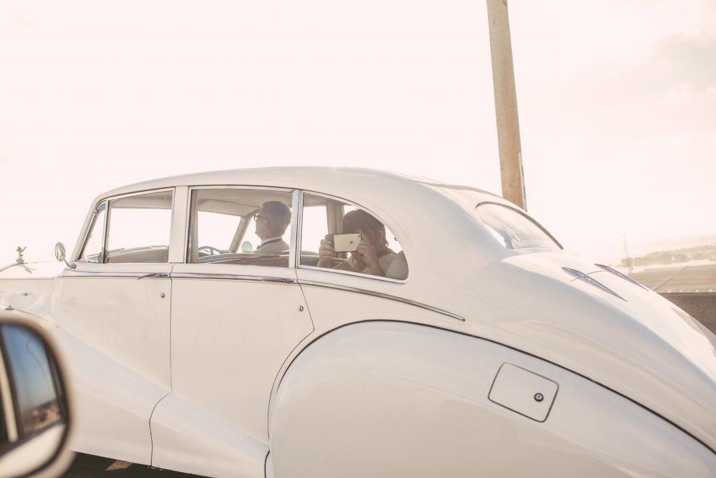 San Diego Same Sex Elopement: Vintage Limousine