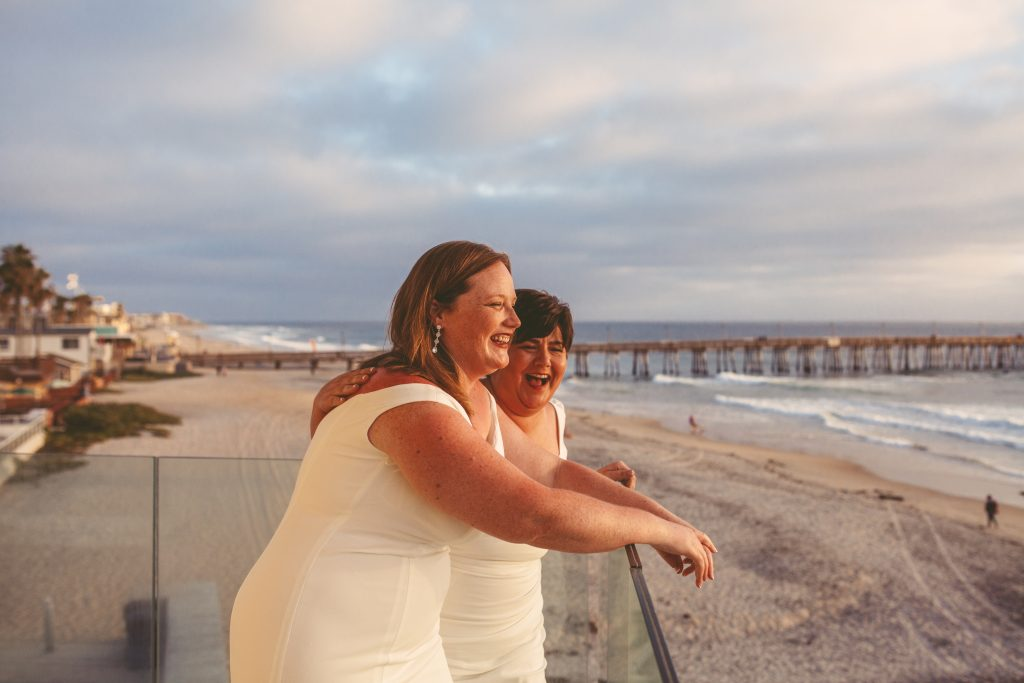 San Diego Same Sex Elopement: Imperial Beach, Pier South Resort