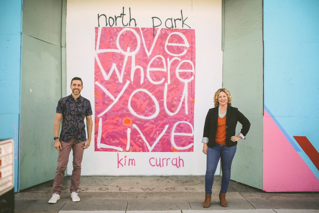 North park headshot session with Kim Curran mural