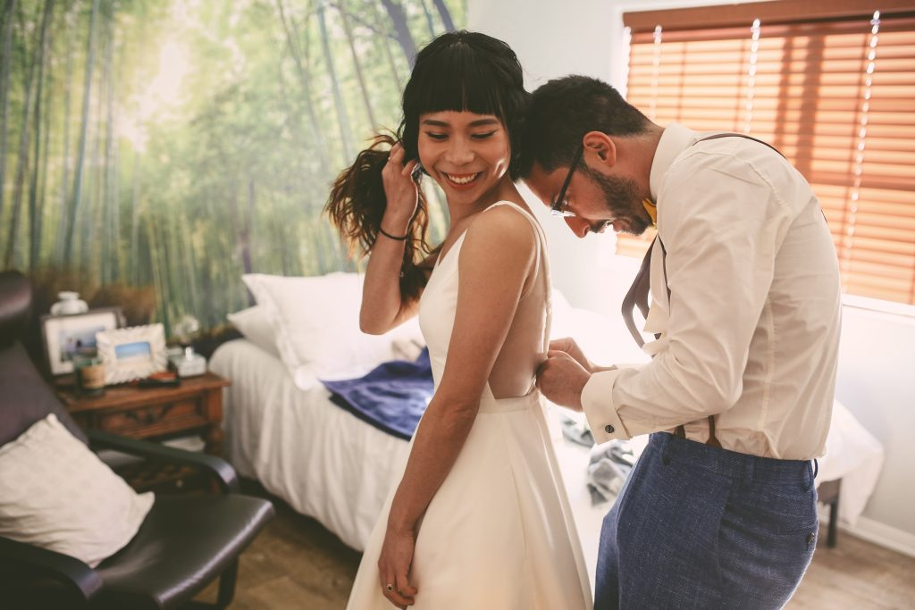 Pre-Wedding Portrait Session: Getting ready together