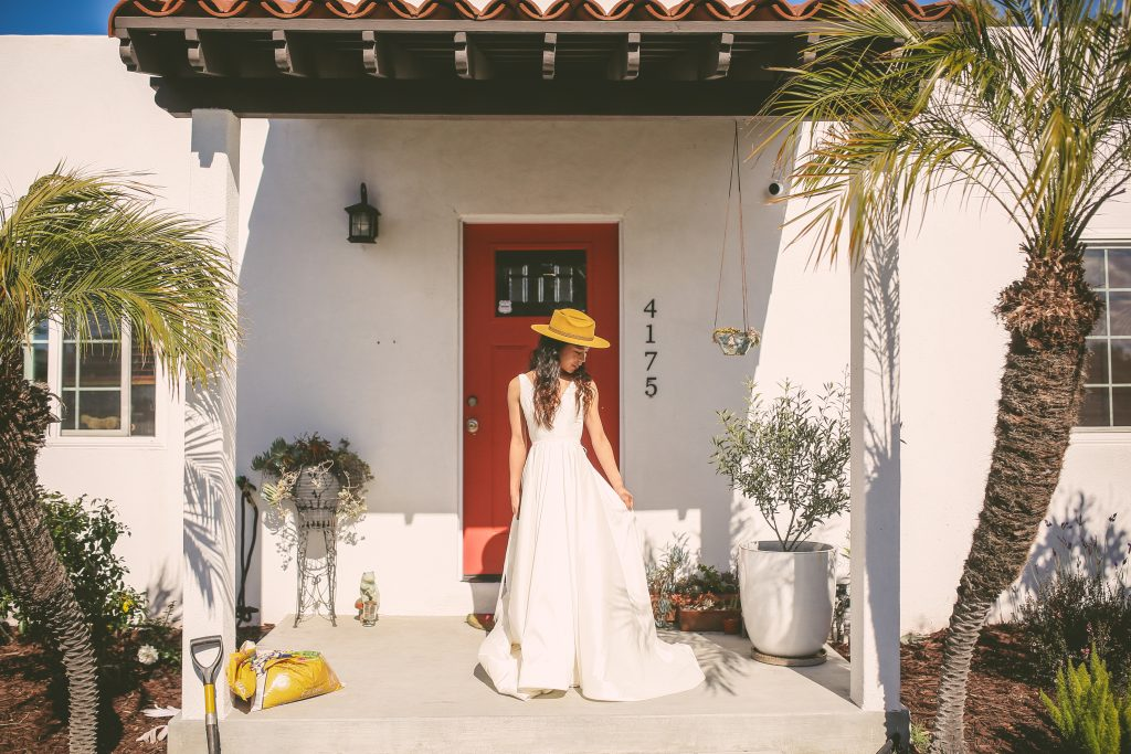 Pre-Wedding San Diego Portrait Session: Front porch