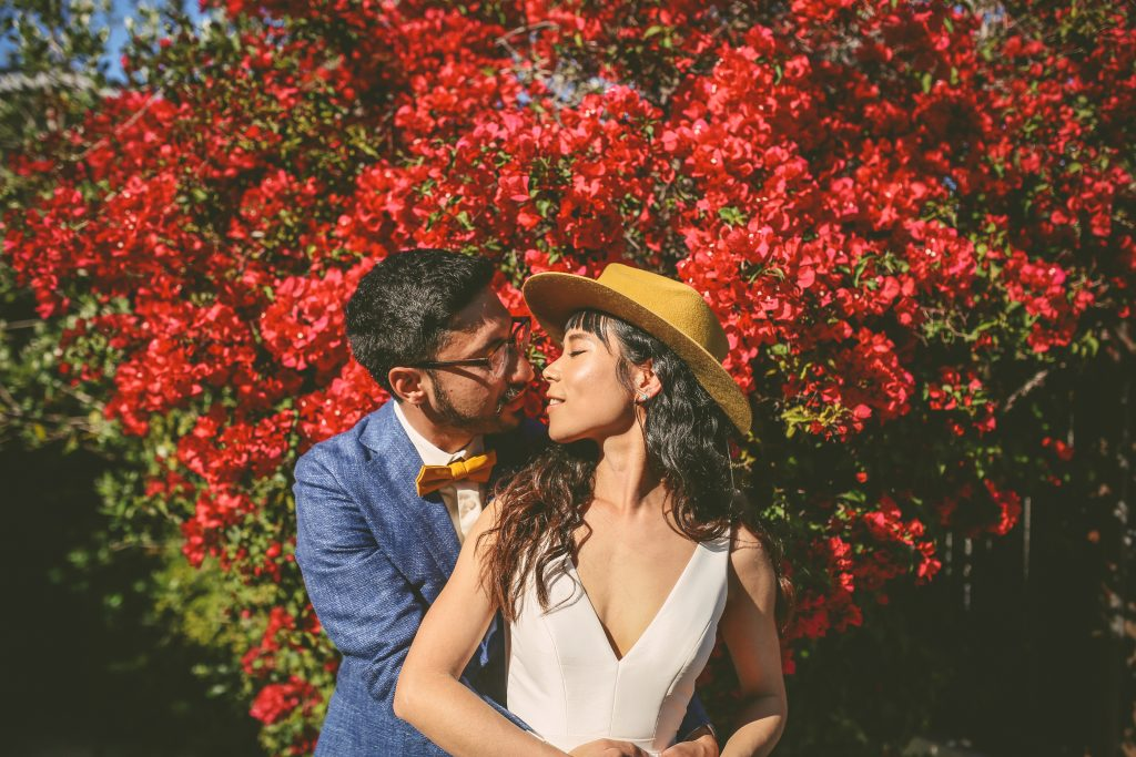 Pre-Wedding Portrait Session: Bougainvillea