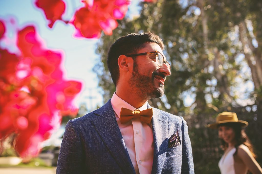 Pre-Wedding San Diego Portrait Session: bougainvillea